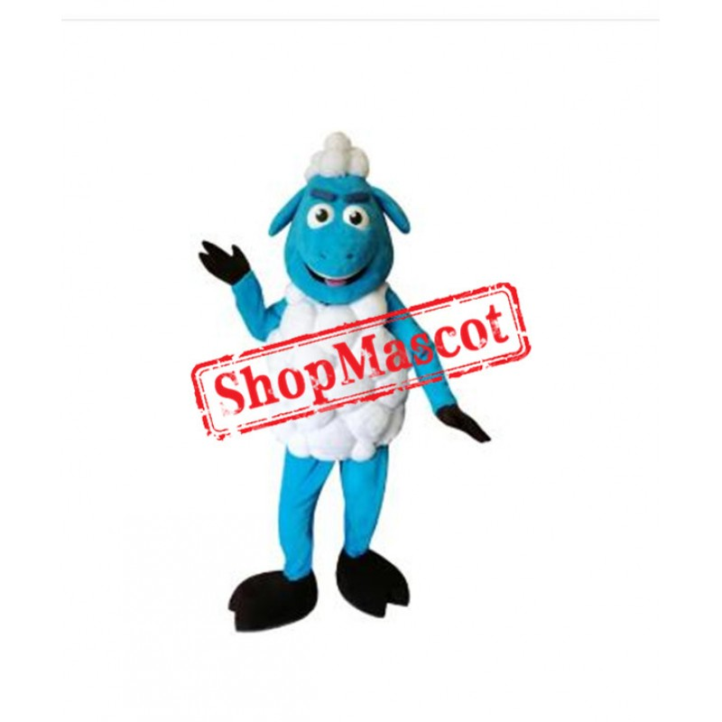 Blue Sheep Mascot Costume