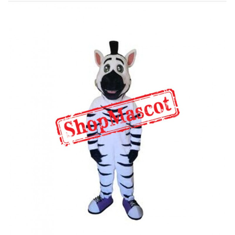 Kind Zebra Mascot Costume
