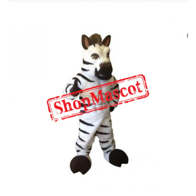 Power Muscular Zebra Mascot Costume