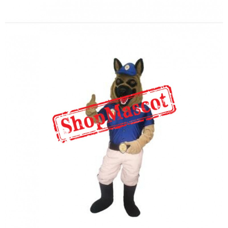 Professional Police Dog Mascot Costume