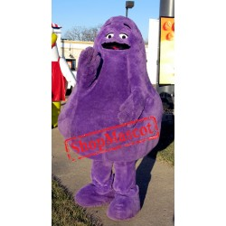Grimace Purple Monster Mascot Costume