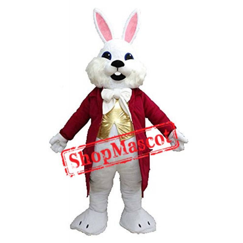 White Easter Bunny Rabbit Mascot Costume