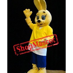 Super Cute Yellow Rabbit Mascot Costume