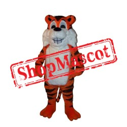 Smiling Tiger Mascot Costume