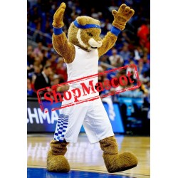 College Sport Wildcat Mascot Costume Free Shipping