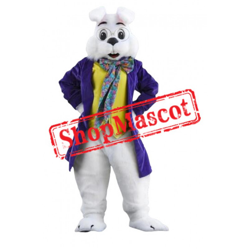Purple Wendell Rabbit Mascot Costume