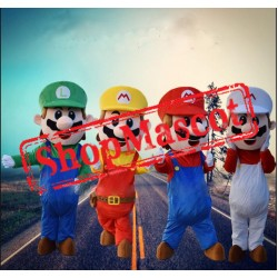 Anime Cartoon Super Mario Mascot Costume