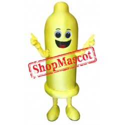 Yellow Condom Mascot Costume
