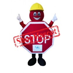 Stop Sign Mascot Costume