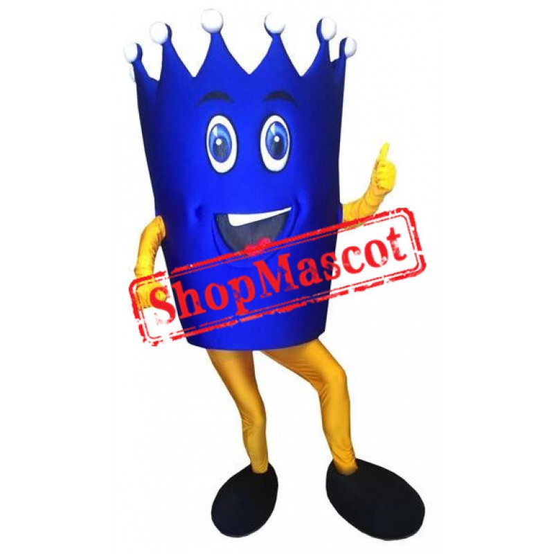 Blue Crown Mascot Costume