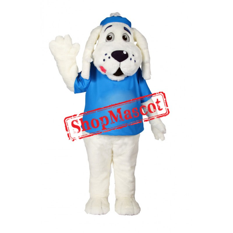 White Puppies Dog Mascot Costume