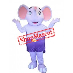 Super Cute Purple Elephant Mascot Costume