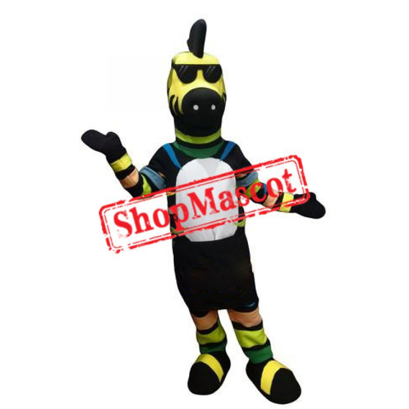 Colorful Zebra Mascot Costume