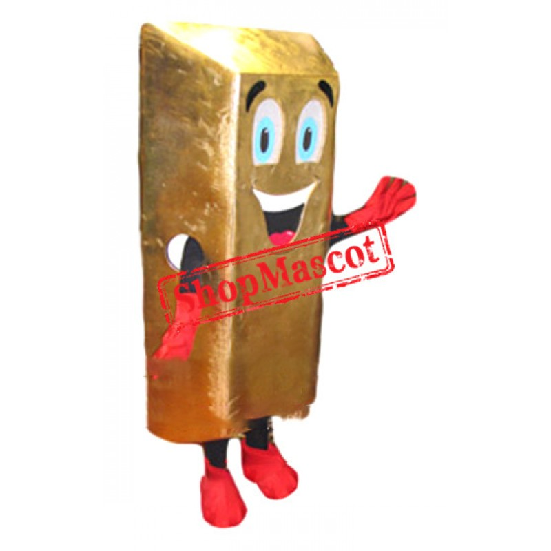 Gold Bar Mascot Costume