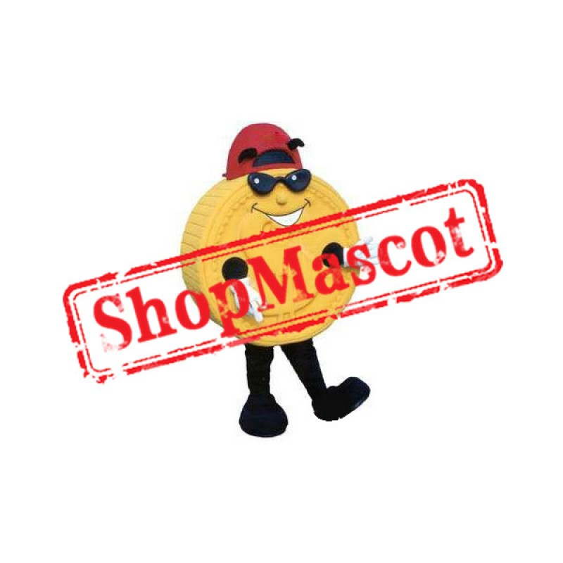 Yellow Coin Mascot Costume