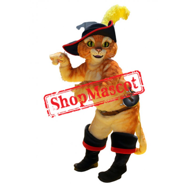 High Quality Puss Cat Mascot Costume