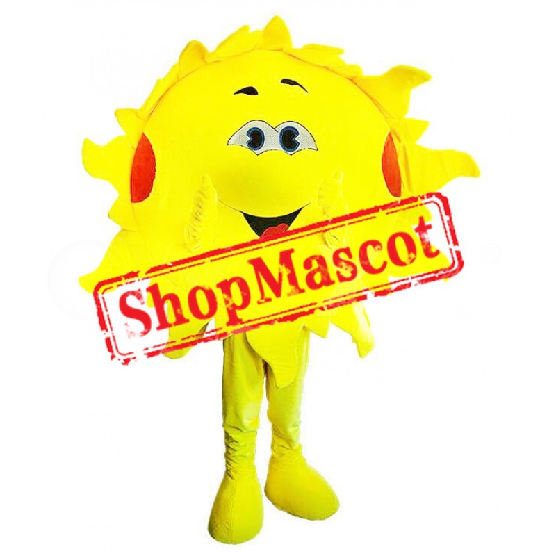 Friendly Sun Mascot Costume