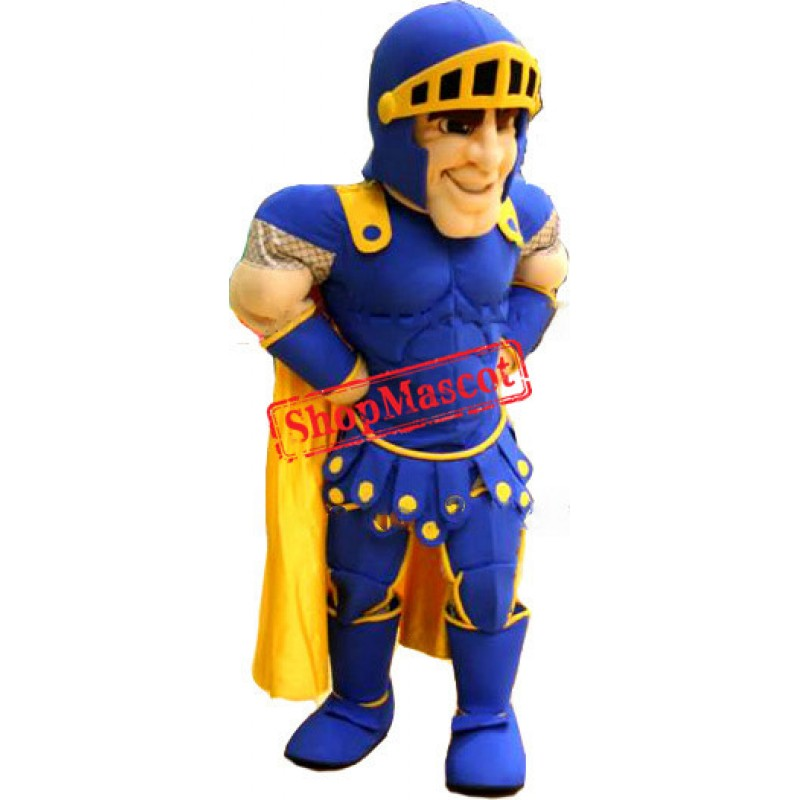 Top Quality Blue Knight Mascot Costume