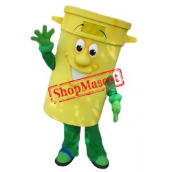 Yellow Bin Mascot Costume