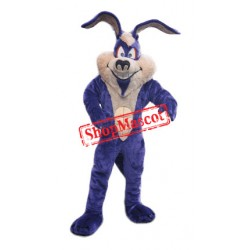 Purple Easter Bunny Mascot Costume Free Shipping
