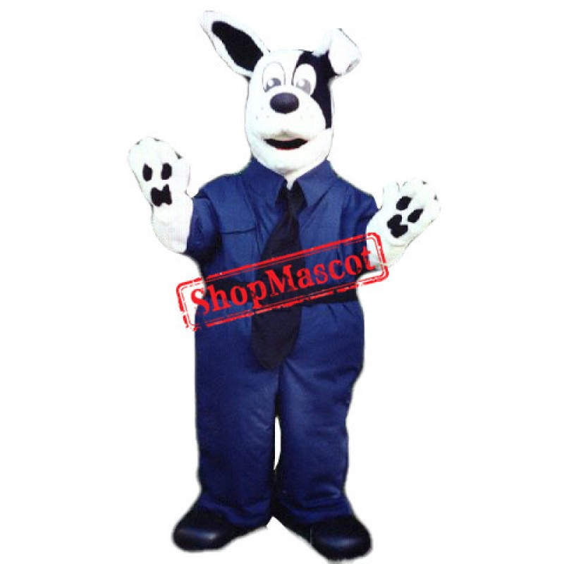 White & Black Dog Mascot Costume Free Shipping