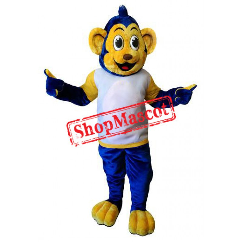 Blue & Yellow Monkey Mascot Costume