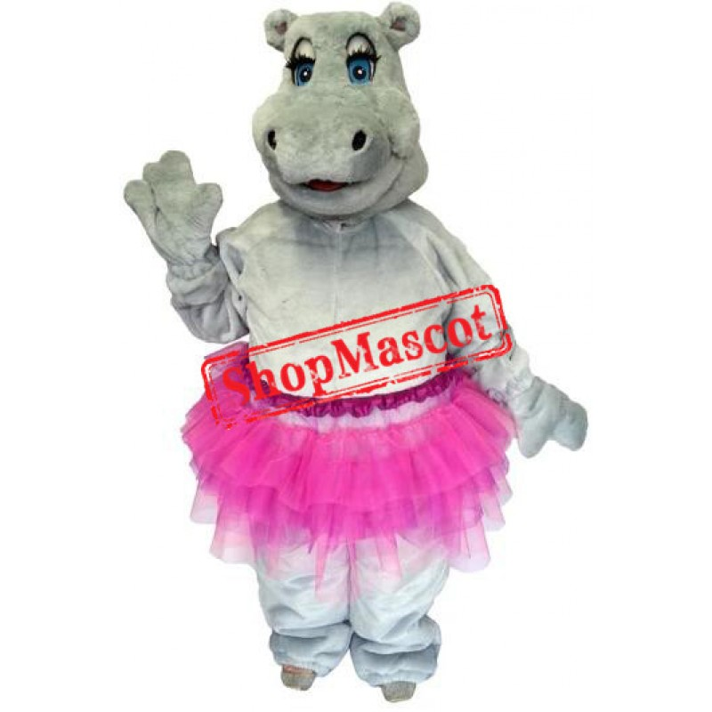 Beautiful Female Hippo Mascot Costume