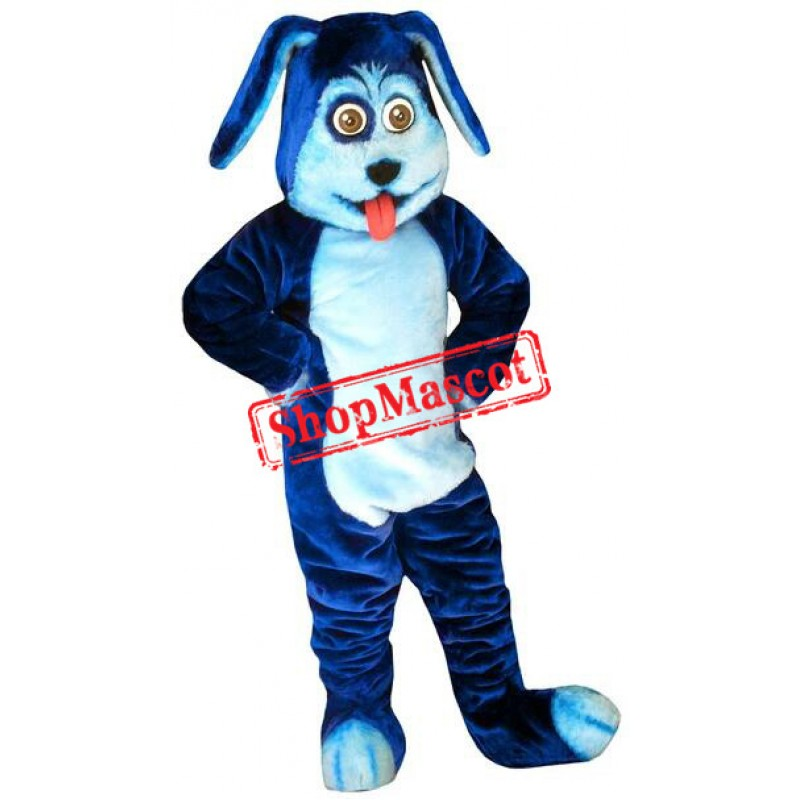 Super Cute Blue Dog Mascot Costume