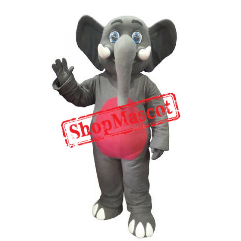 Friendly Elephant Mascot Costume