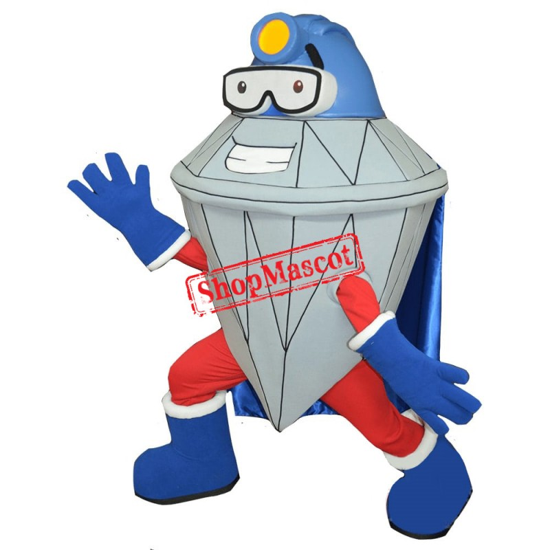 Diamond Man Mascot Costume