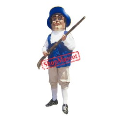 Brave Patriot Mascot Costume