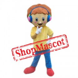 Music Boy Mascot Costume