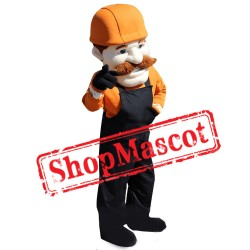 Old Builder Mascot Costume