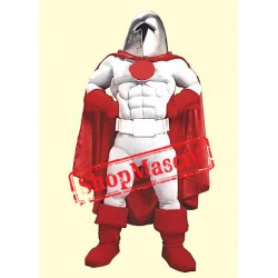 Power Muscular Warrior Mascot Costume