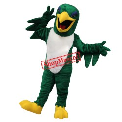 Green Falcon Mascot Costume Free Shipping