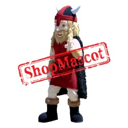 Red Viking Mascot Costume