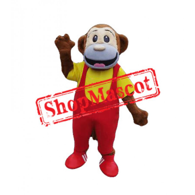 College Monkey Mascot Costume Free Shipping