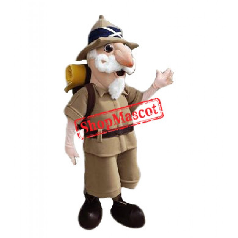 Old Explorer Mascot Costume
