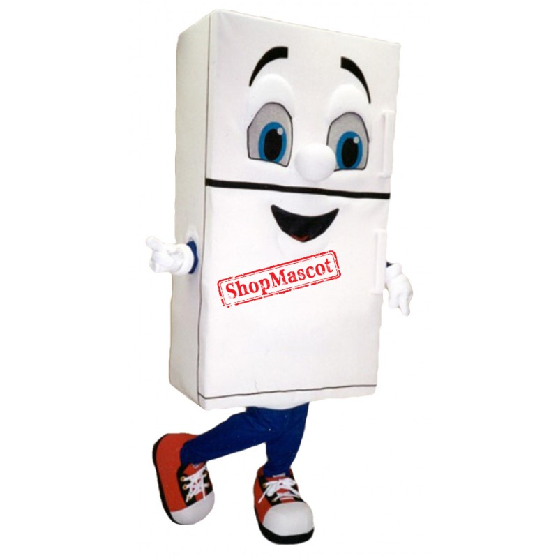 White Fridge Mascot Costume