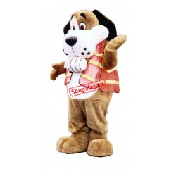 Fred Cross Dog Mascot Costume