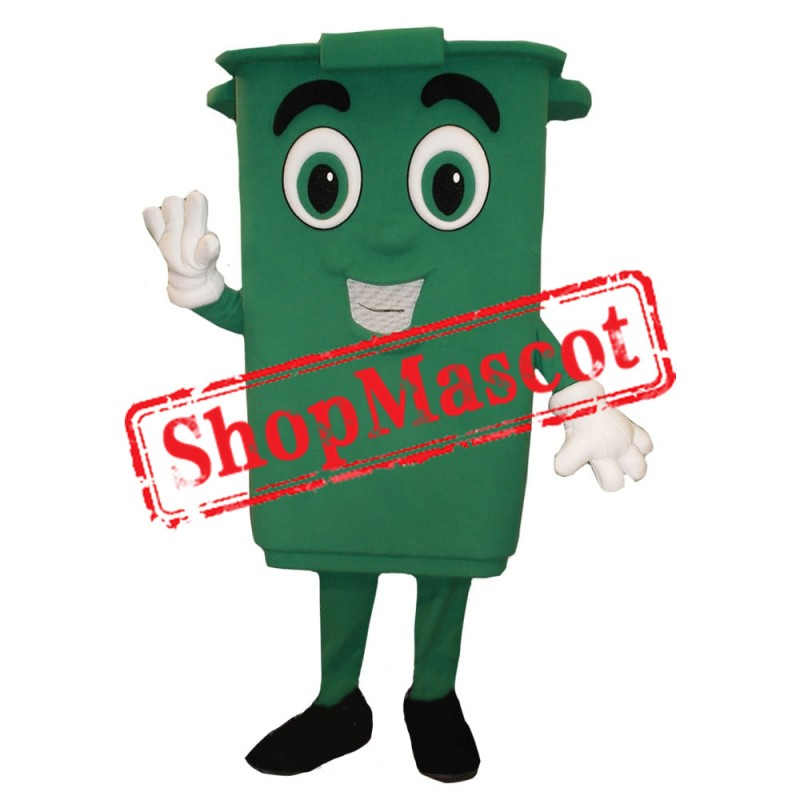Green Bin Mascot Costume Free Shipping