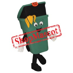 Happy Green Bin Mascot Costume