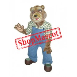 Worker Bear Mascot Costume Free Shipping