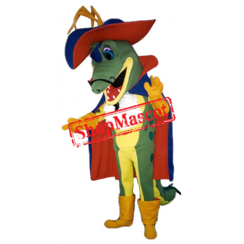 Pirate Gator Mascot Costume
