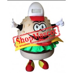 Happy Burger Mascot Costume