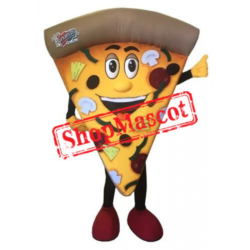 Happy Pizza Mascot Costume