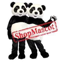 Panda Couple Mascot Costume