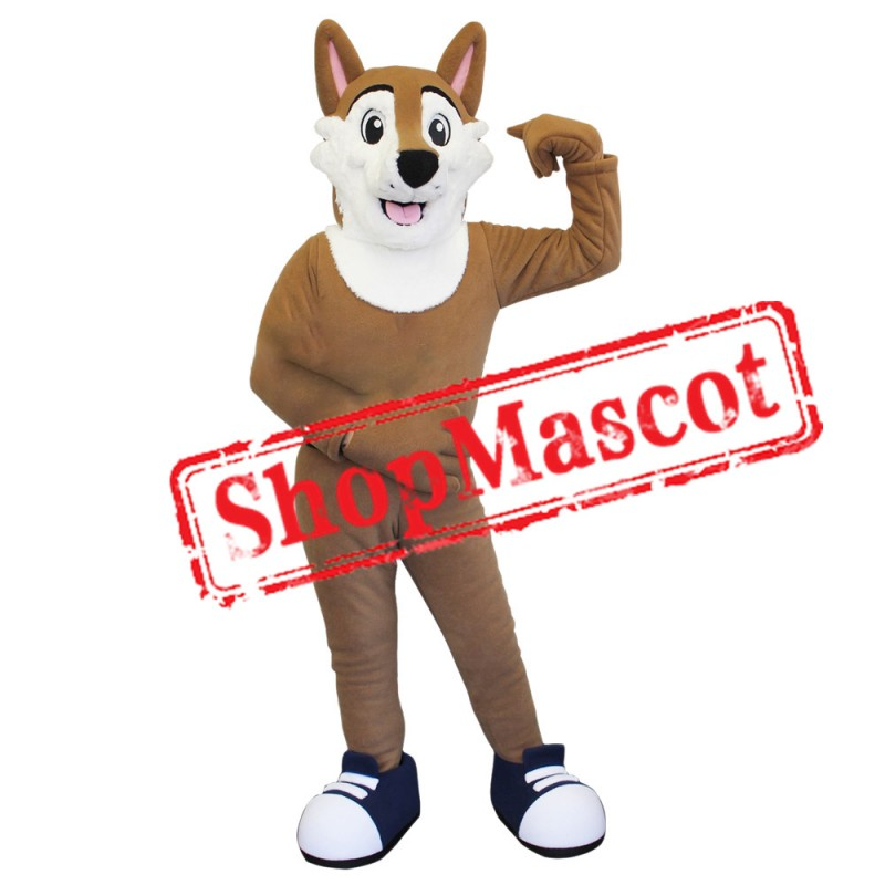 Happy Coyote Mascot Costume