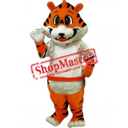 School Happy Tiger Mascot Costume