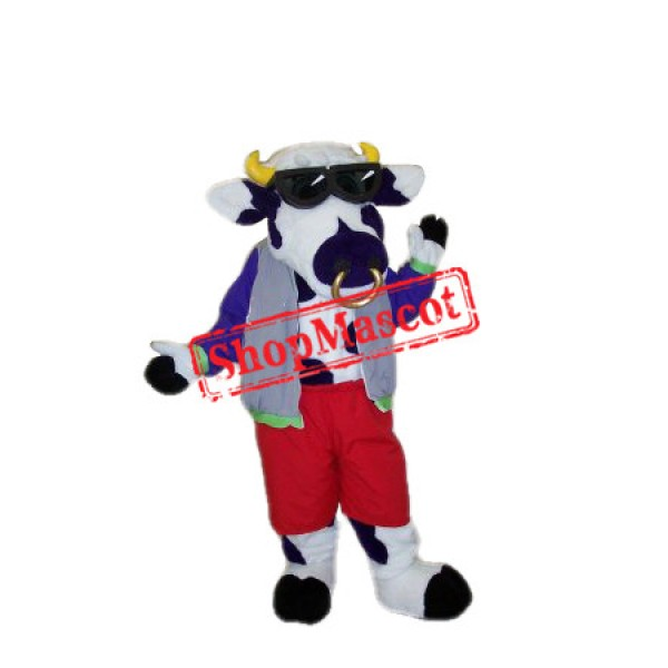 Cool Cow Mascot Costume